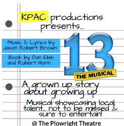 "<h2><Font color=""#5D87A1"">13 The Musical - KPAC"