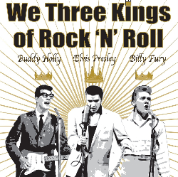 """<h2><Font color=""""#5D87A1"""">We Three Kings.... of Rock n Roll"""